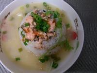 かにの味噌鮭魚湯泡飯