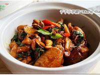 下酒菜-塔香燒雞(三杯雞)