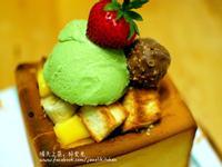 水果冰淇淋蜜糖吐司[小七夏日輕食尚]