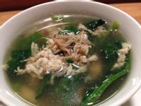 魩仔魚菠菜湯