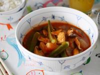 Olivia♥十分鐘泰式秋葵雞肉紅咖哩