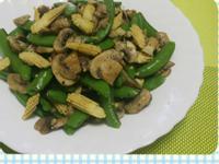 甜豆炒蘑菇
