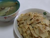 麻竹筍二吃之竹筍雞骨湯、沙茶炒竹筍
