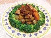 薑汁蘑菇燒雞(電鍋加速料理版)