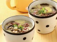 杯子料理:培根蘑菇蒸蛋