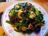 韭菜川耳(黑木耳)炒蛋