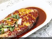 紅糟醬燒鮭魚