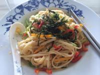 簡單料理 - 微波爐蔬菜麵