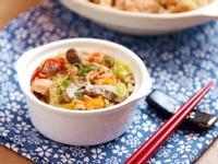 [大同電鍋] 鮭魚鮮菇番茄飯