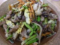 雙菇雙筍炒梅花豬