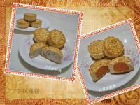 中秋小月餅~白豆沙蛋黃、白豆沙核桃