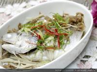 高麗菜乾蒸午仔魚