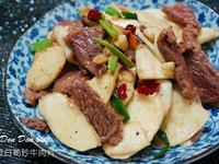 筊白筍炒牛肉片