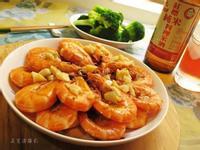 蒜末酒香蝦