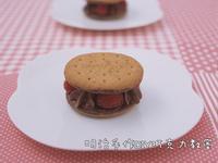 甘那許巧克力樹莓夾心餅乾