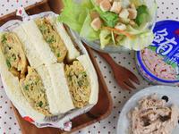 鮪魚厚蛋燒三明治 [新東陽鮪魚片]