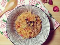 【終極版電子鍋番茄飯:番茄野菇肉燥燉飯】