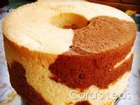 杏仁粉雙色戚風蛋糕