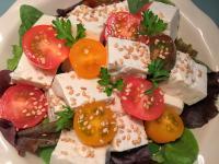 超簡單!蕃茄豆腐生菜沙拉
