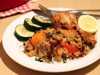 蔬菜小米佐孜然風味烤雞