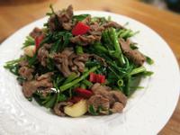 麻油牛肉空心菜