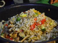 寶螺一鍋煮--三杯雞佐青醬燉飯