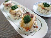 寵物鮮食-白醬時蔬豬肉燉飯佐嫩煎魚排