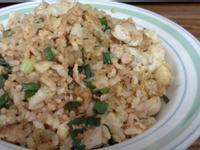 簡易雞胸肉絲蛋炒飯