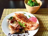 酱油麹煎三文鱼排&竹荚鱼