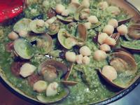 青醬蛤蜊干貝燉飯