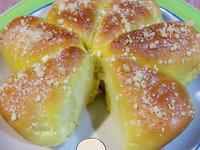 南瓜煉乳夏威夷豆奶酥花麵包~湯種冷藏法