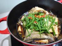 無水豆腐蒸魚