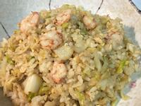 簡單快速の麻油蝦仁蛋炒飯