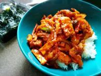 韓式辣炒豬肉蓋飯