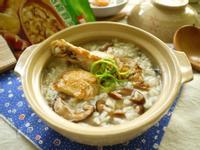 麻油香菇雞肉粥