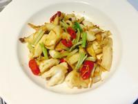Aの料理 2 - 干貝蝦醬辣炒花枝