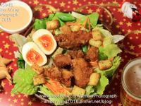 韓式炸雞麵包沙拉【小七派對美食】
