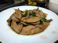 塔香醬燒豬肝
