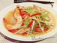 粿條蒸鮮蝦