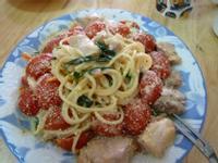 蕃茄雞肉義大利麵~好侍北海道白醬料理奶油