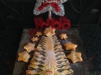 耶誕樹巧克力醬麵包❤!!!