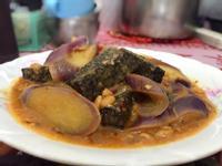 豆瓣醬燒米血糕茄子