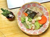 味噌鮭魚頭蔬菜湯