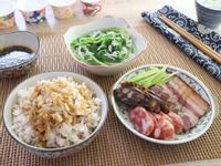 一鍋出一桌:臘味飯+臘腸拼盤+吻仔魚莧菜