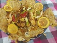 芋頭餅檸檬雞(蕃茄醬懶人料理)