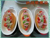 心血來潮的用鮪魚沙拉火腿醬裝飾橄欖包^^