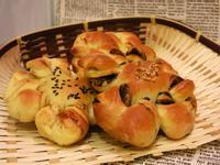 湯種花環扭紋麵包-朱古力 /沙拉肉鬆口味