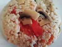 懶人/電鍋 整顆番茄蘑菇飯