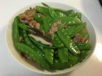 扁豆炒香菇肉絲