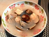 蒜頭蛤蜊。排骨湯
